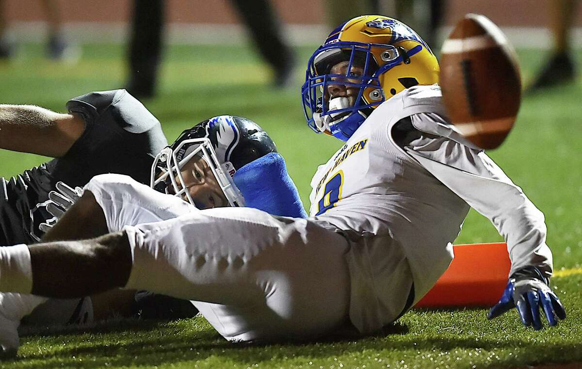 New Haven defeats SCSU, 31-17, for the Elm City trophy, Friday, Sept. 29, 2017, at the Jess Dow Field at SCSU in New Haven.