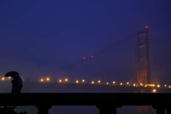 It was mild and misty as the first day of 2010 broke on the waterfront and the Golden Gate Bridge, a time to enjoy the city's beauty.