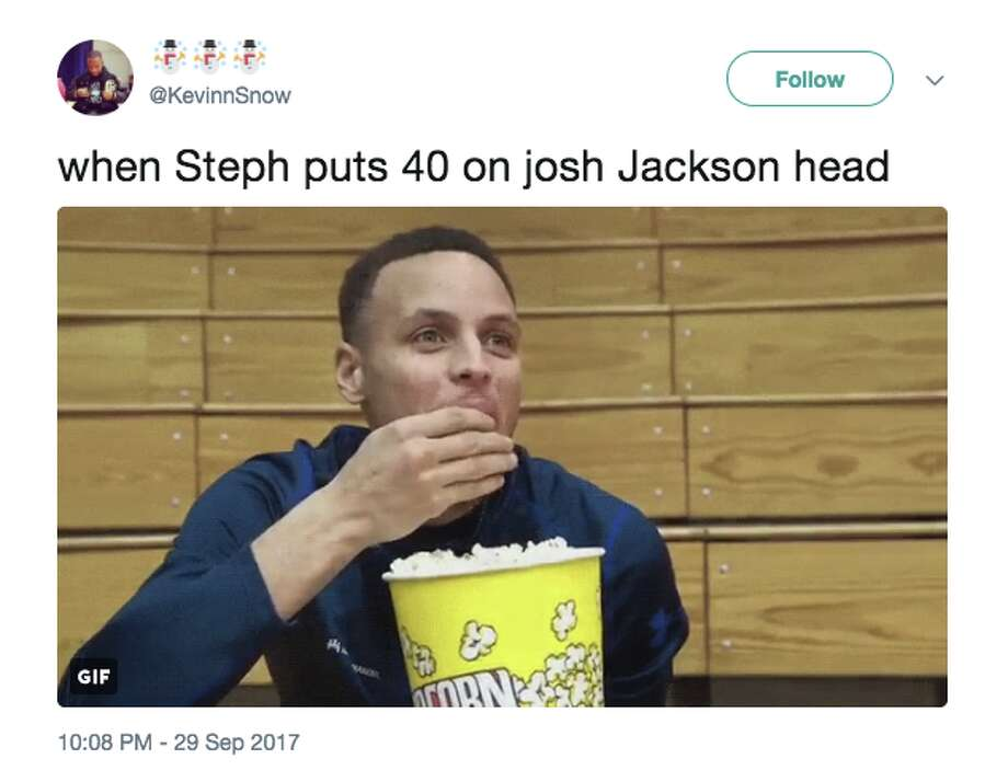 """Warriors fans were less than thrilled after Suns rookie Josh Jackson called Steph Curry """"small and unathletic."""" Photo: Twitter"""