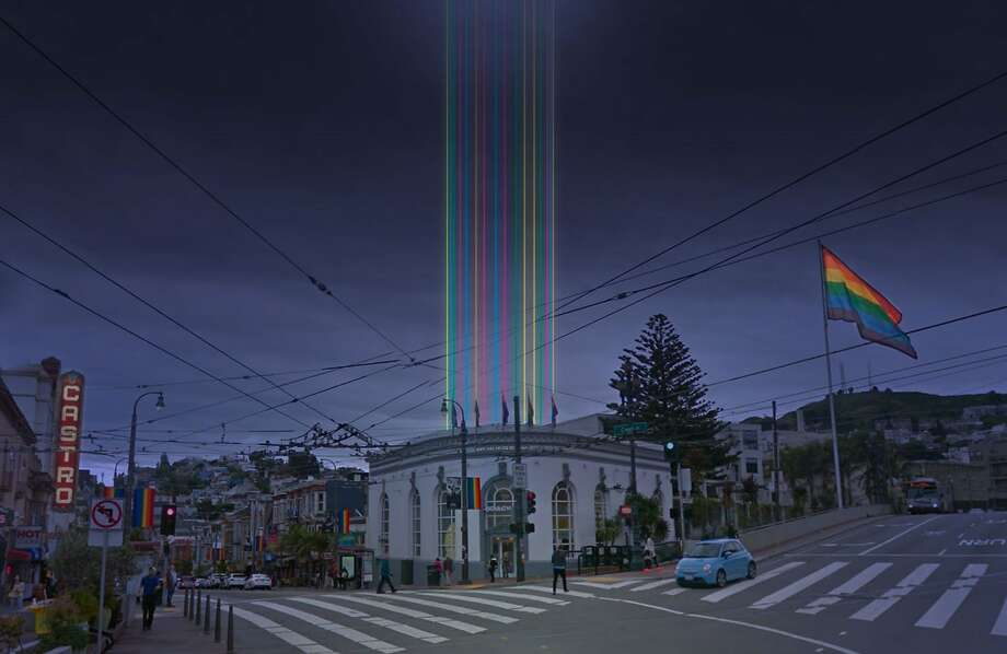 "A rendering of ""Harvey's Halo"" to be introduced Nov. 8 at Harvey Milk Plaza. Photo: Courtesy Illuminate"