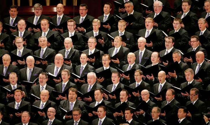 The Mormon Tabernacle Choir performs during the morning session of the two-day Mormon church conference Saturday, Sept. 30, 2017, in Salt Lake City. (AP Photo/Rick Bowmer)