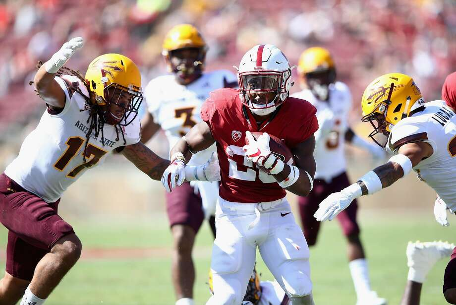 PALO ALTO, CA - SEPTEMBER 30:  Bryce Love #20 of the Stanford Cardinal runs with the ball against the Arizona State Sun Devils at Stanford Stadium on September 30, 2017 in Palo Alto, California.  (Photo by Ezra Shaw/Getty Images) Photo: Ezra Shaw, Getty Images