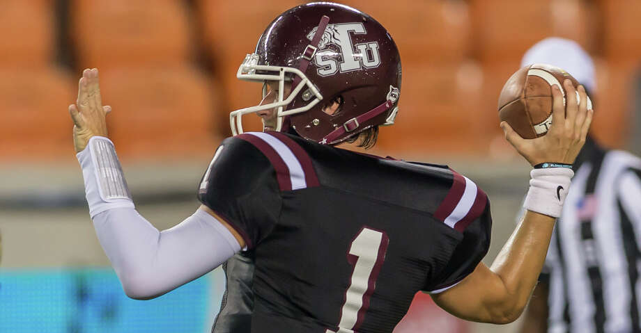 September 29, 2017:  Texas Southern Tigers quarterback Dominic DeLira (1) throws for a pass during the college football game between the Alcorn State Braves and Texas Southern Tigers at BBVA Compass Stadium in Houston, Texas. (Leslie Plaza Johnson/Freelance Photo: Leslie Plaza Johnson/For The Chronicle