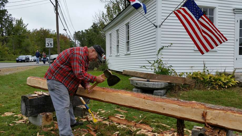 The sixth annual Winchester Day, at the intersection of West Road and Newfield Road in Winchester Center featured a Grange art show, hayrides, and a scavenger hunt, was attended by about 100 people despite the 55-degree overcast and drizzly weather. Photo: Noel Ambery / Special To The Register Citizen