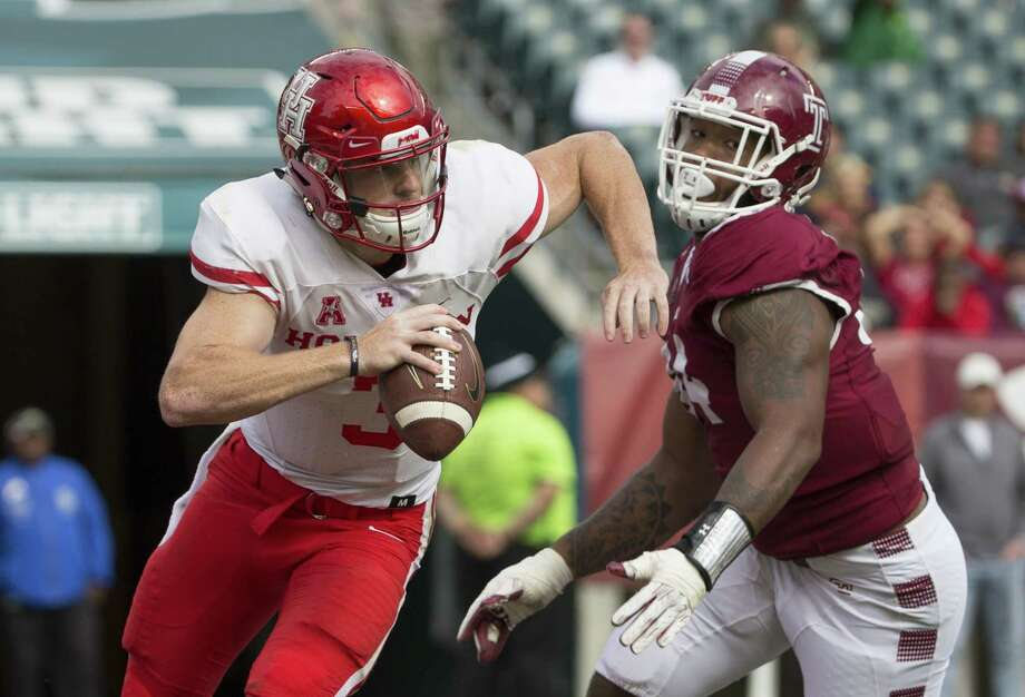 QuarterbackA Kyle is starting at quarterback, just probably not the one everybody expected at the start of the season. Coach Major Applewhite benched former five-star recruit Kyle Allen — who had six turnovers in two games — for backup Kyle Postma midway through the fourth quarter in the loss to Texas Tech. Postma threw for 226 yards and a touchdown and ran for a game-high 81 yards in a 20-13 win over Temple in the American Athletic Conference opener. The job is under constant evaluation, Applewhite said, but for now Postma is the Cougars' starter.Grade: C Photo: Mitchell Leff, Stringer / 2017 Getty Images