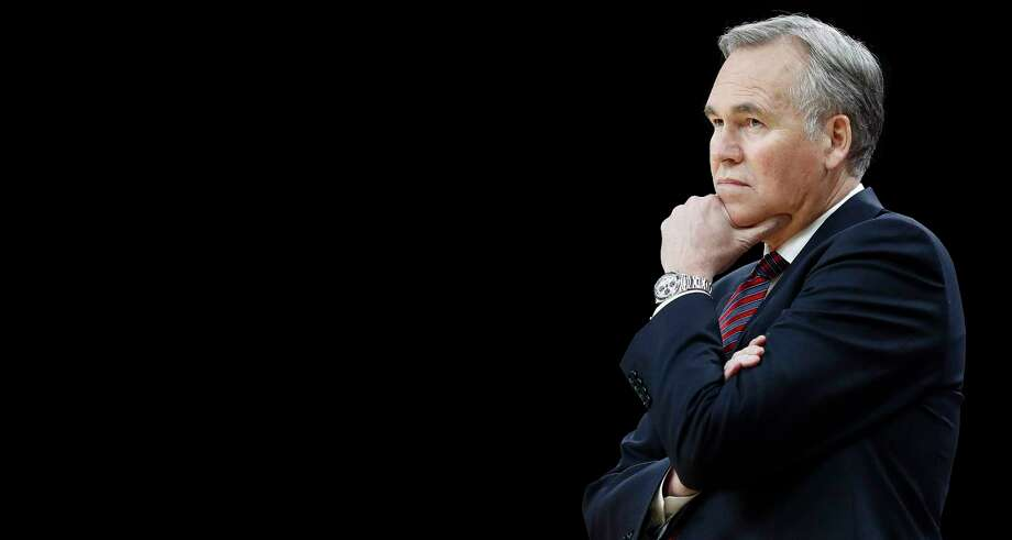 Houston Rockets head coach Mike D'Antoni watches his players during the first half of Game 2 of the second-round of the Western Conference NBA playoffs at AT&T Center,  Wednesday, May 3, 2017, in San Antonio. ( Karen Warren / Houston Chronicle ) Photo: Karen Warren, Staff Photographer / Stratford Booster Club