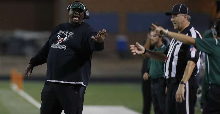 """""""The long week helped,"""" Hightower coach Padriac McGinnis said. """"The two previous games were on a Thursday, so we had a short week to prepare and get everything going."""" Photo: Karen Warren/Houston Chronicle"""