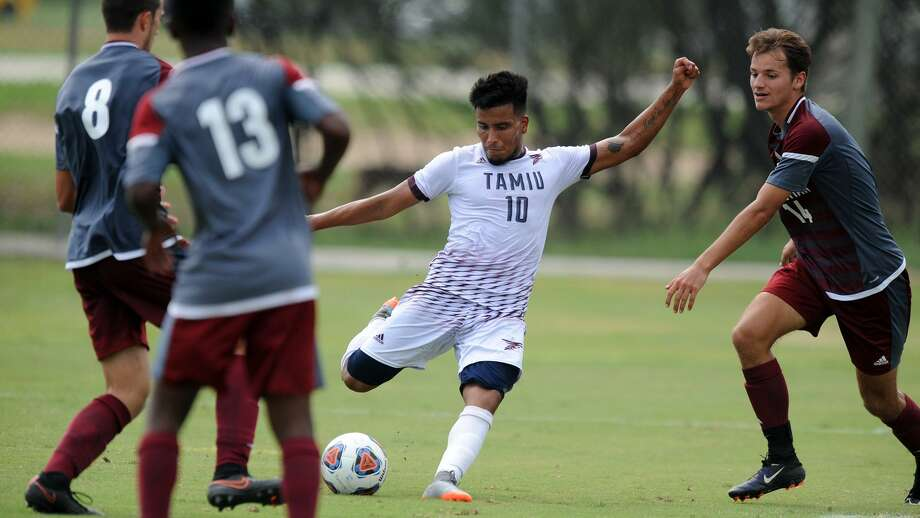 Alan Rivera scored two goals on Saturday as the Dustdevils won 2-0 at home over Oklahoma Christian. Photo: Courtesy Of TAMIU Athletics