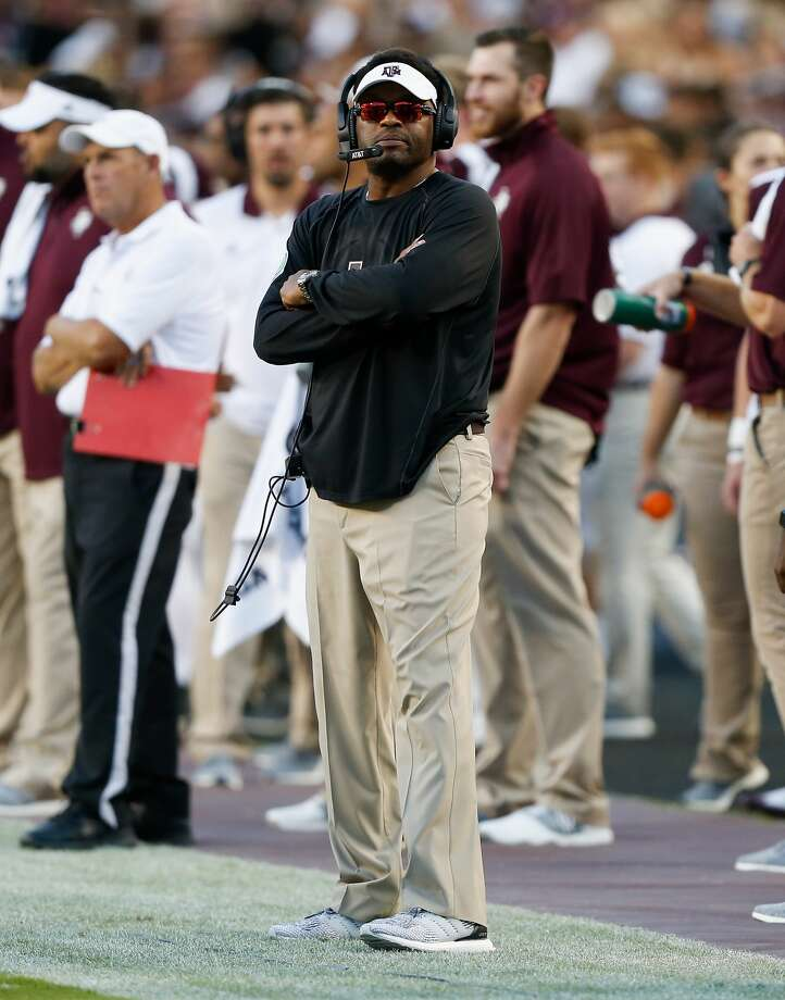 Coach Kevin Sumlin will lead the Aggies in a night game against Mississippi State on Oct. 28. Photo: Bob Levey/Getty Images