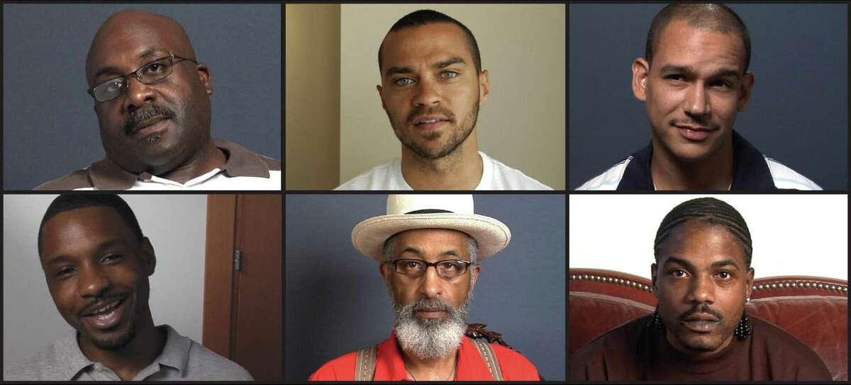 """""""Question Bridge: Black Males,"""" a video installation featuring more than 150 black men from across the country, runs through Feb. 25 at the Oakland Museum of California."""