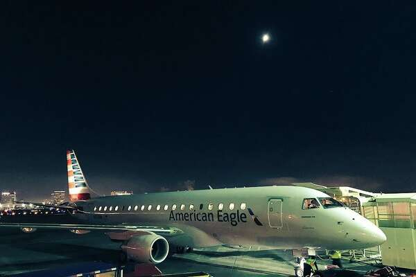 Airfares in the California Corridor plummeted this week - American Eagle Embraer 175 at LAX