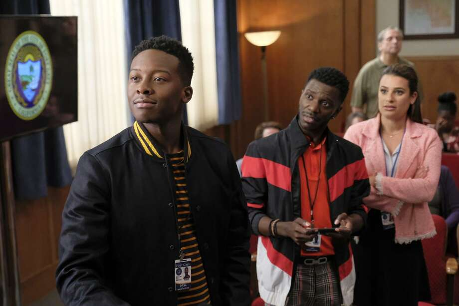 """Courtney Rose (Brandon Michael Hall, left) unexpectedly wins a mayoral race in """"The Mayor"""" and starts to make changes in town as he begins to take the job seriously. Photo: Tony Rivetti / Tony Rivetti / ABC / © 2017 American Broadcasting Companies, Inc. All rights reserved."""