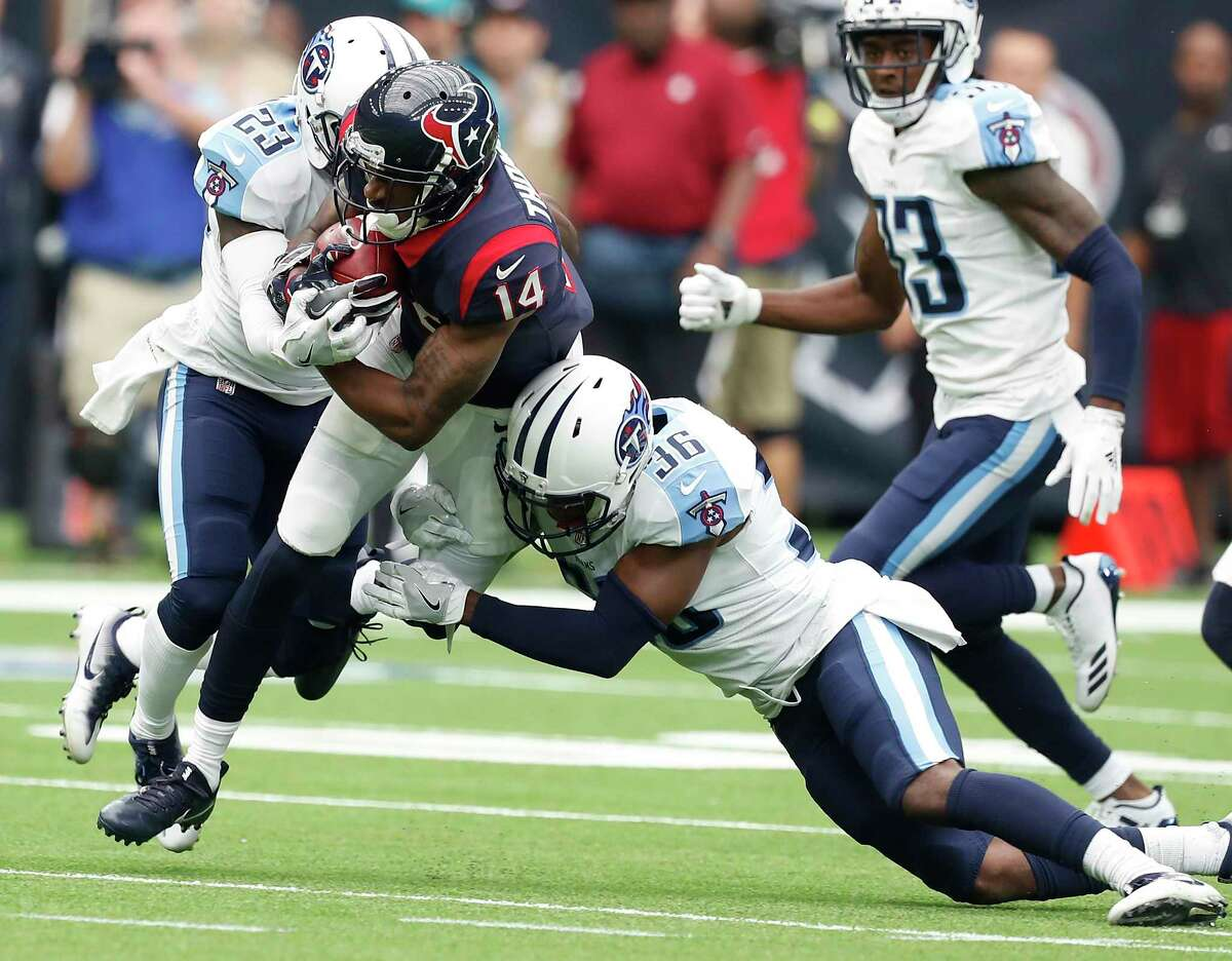 Texans wide receiver and return man Chris Thompson (14) is active for Sunday's game against the Cardinals at NRG Stadium.