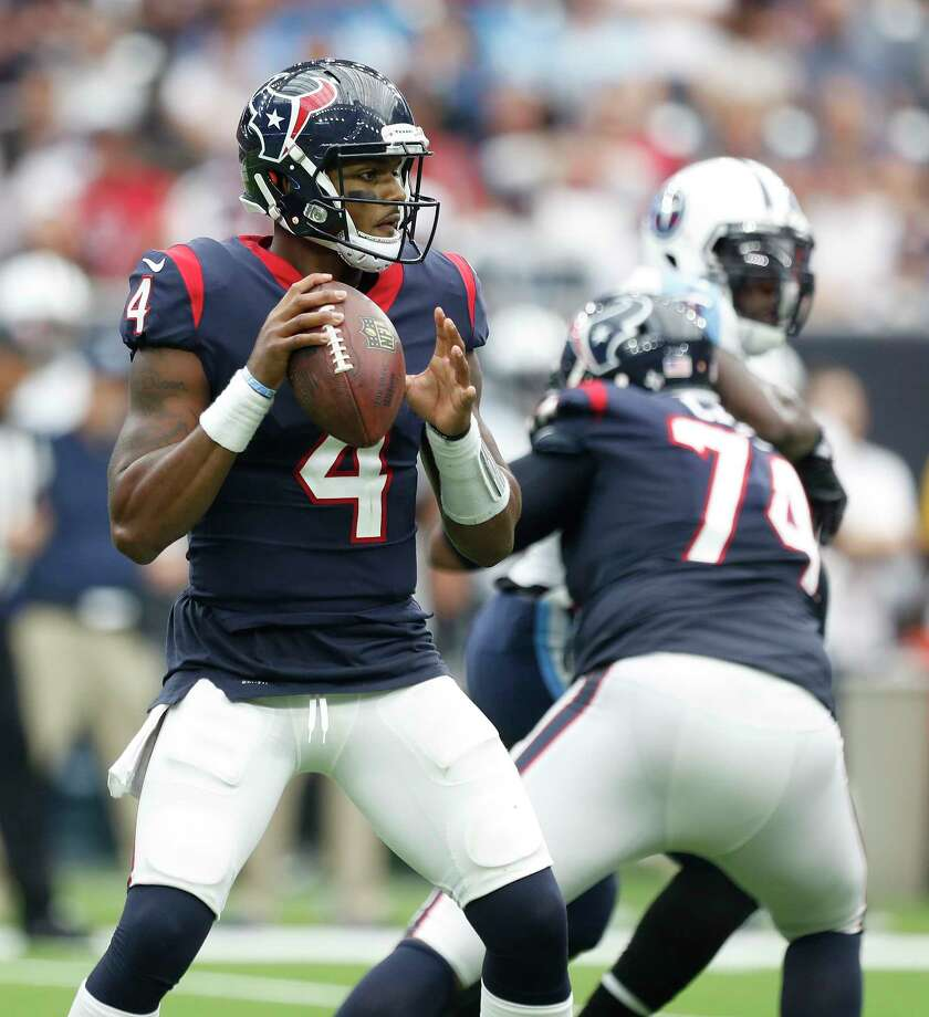 Houston Texans quarterback Deshaun Watson threw four touchdowns and ran for another in the Texans 57-14 win. His five TDs tie the NFL rookie record and the 57 points were a franchise record for Houston.Browse through the photos for the rest of Week 4's winners and losers.  Photo: Karen Warren, Houston Chronicle / @ 2017 Houston Chronicle