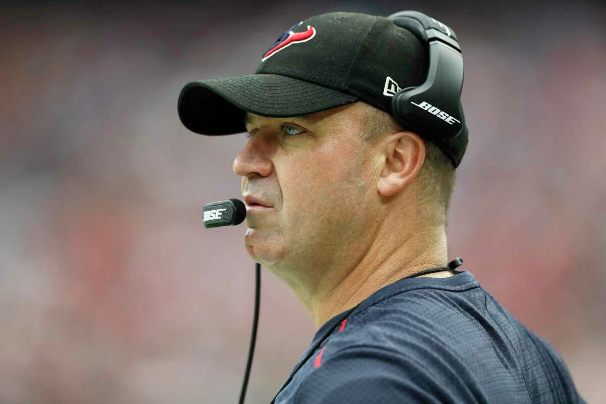 Houston Texans head coach Bill O'Brien on the sideline during the fourth quarter of an NFL football game at NRG Stadium, Sunday, Oct. 1, 2017, in Houston.