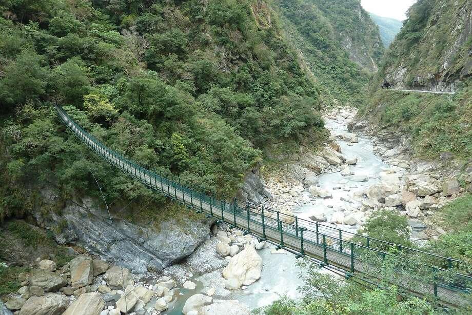 The rugged marble canyon of Taroko Gorge on the east coast of Taiwan. Photo: Spud Hilton, The Chronicle