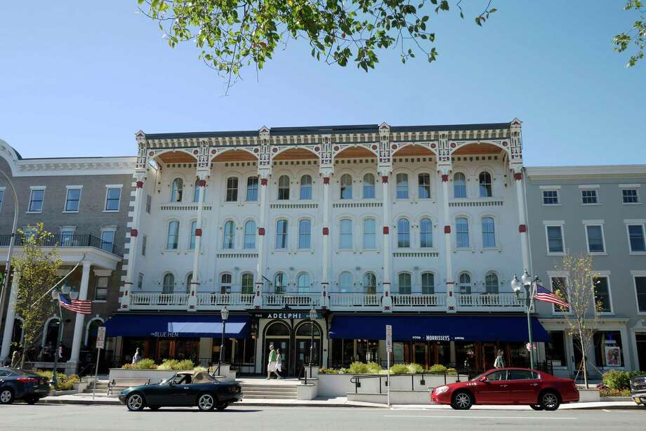 A view of the Adelphi Hotel on Sunday, Oct. 1, 2017 in Saratoga Springs, N.Y.  The hotel opened back up for business on Sunday following a multi-year renovation project.    (Paul Buckowski / Times Union) Photo: PAUL BUCKOWSKI, Albany Times Union / 20041722A