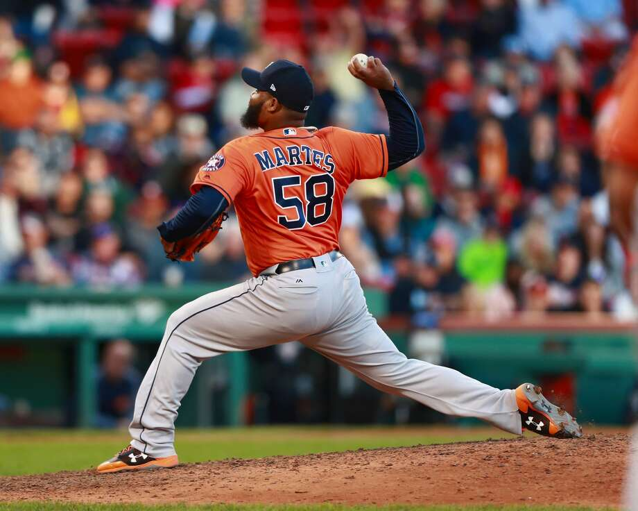 BOSTON, MA - OCTOBER 01:  Pitcher Francis Martes #58 of the Houston Astros poitches in the bottom of the eighth inning during the game against the Boston Red Sox at Fenway Park on October 1, 2017 in Boston, Massachusetts.  (Photo by Omar Rawlings/Getty Images) Photo: Omar Rawlings/Getty Images