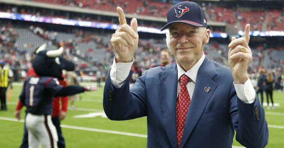 PHOTOS: Texans 57, Titans 14Houston Texans owner Bob McNair celebrates the Texans 57-14 win over the Tennessee Titans at NRG Stadium on Sunday, Oct. 1, 2017, in Houston. ( Brett Coomer / Houston Chronicle )Browse through the photos to see action from the Texans' win over the Titans on Sunday. Photo: Brett Coomer/Houston Chronicle