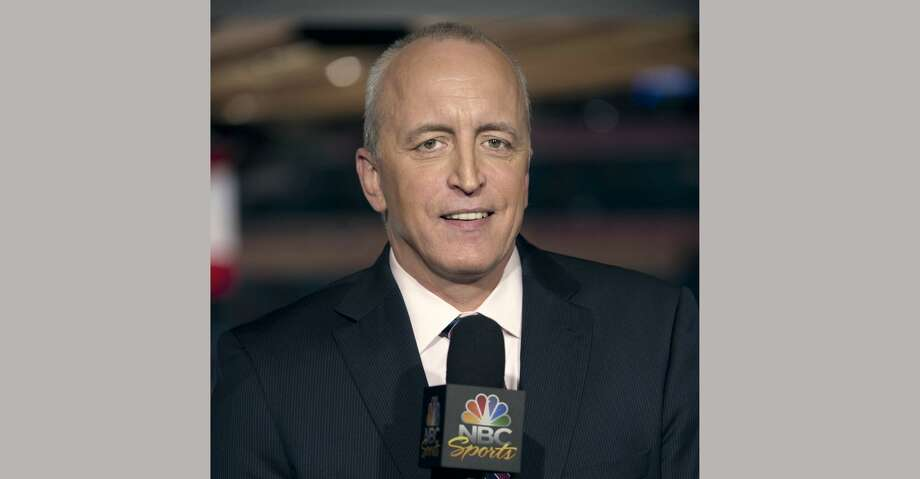 "This April 4, 2011 image released by NBC Universal shows announcer Dave Strader for ""NHL on Versus,"" in New York. Strader died Sunday, Oct. 1, 2017, at his home in Glens Falls, N.Y., after battling bile duct cancer for over a year. He was 62. (Virginia Sherwood/NBC Universal via AP) Photo: Virginia Sherwood/Associated Press"