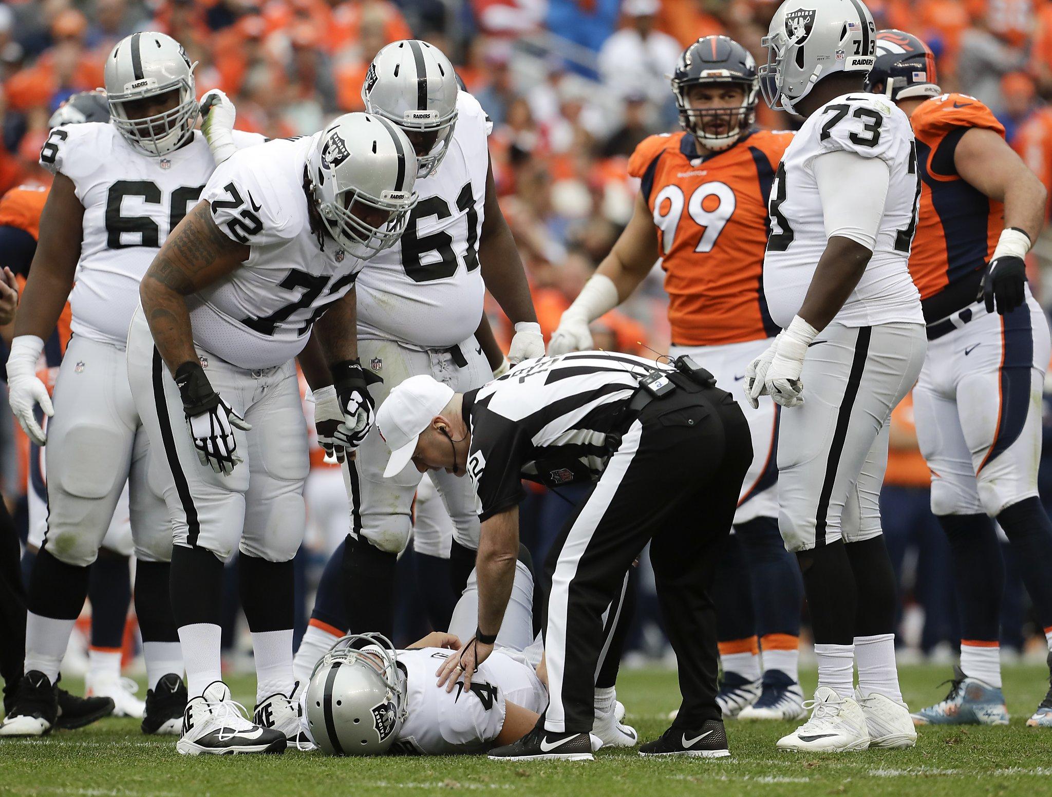 Derek Carr injury poses short term test of Raiders resilience