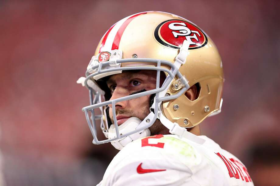 Despite his team's lack of offense, head coach Kyle Shanahan said Monday that it doesn't have a quarterback competition. Brian Hoyer will remain the starter and rookie C.J. Beathard, a third-round pick, will remain the backup — at least for now. Photo: Christian Petersen, Getty Images