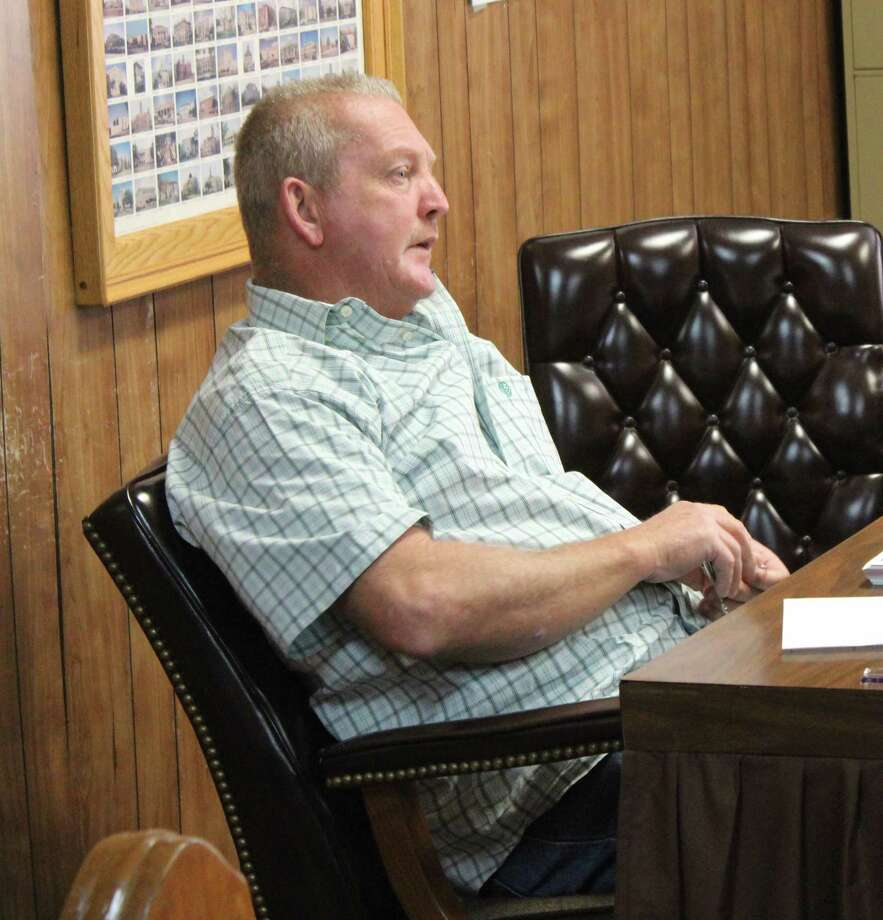 Pct. 2 Commissioner Donny Marrs discusses removing part-time help in the San Jacinto County Judge's office and replacing it with a full-time position during the budget workshop on Sept. 29. Photo: Jacob McAdams