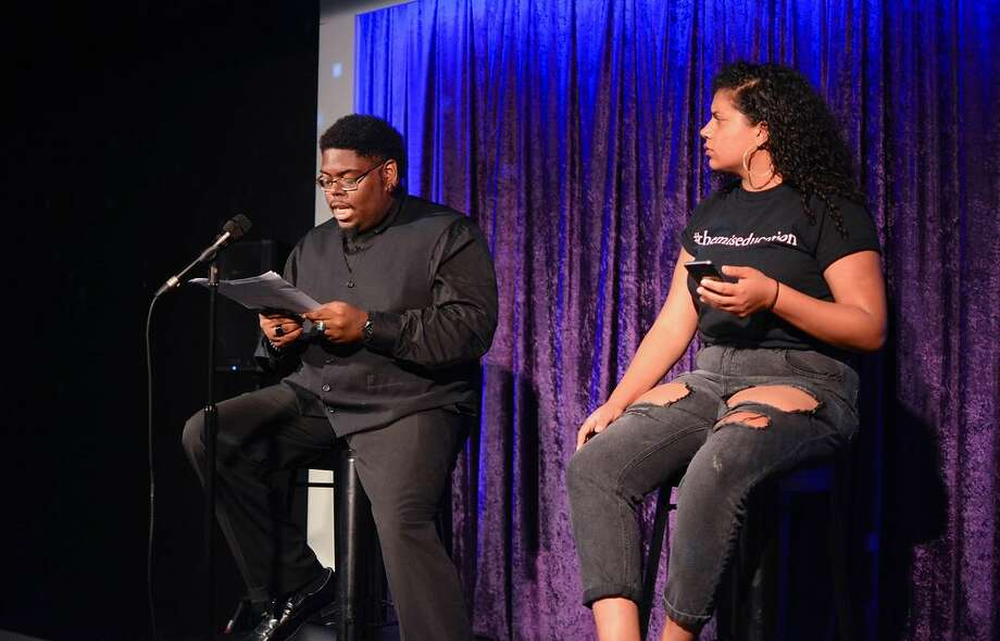 Aaron Moore, left, and Morgan Elizabeth in a previous performance in the Illuminate Theater series. (Image: Jayana Photos.)