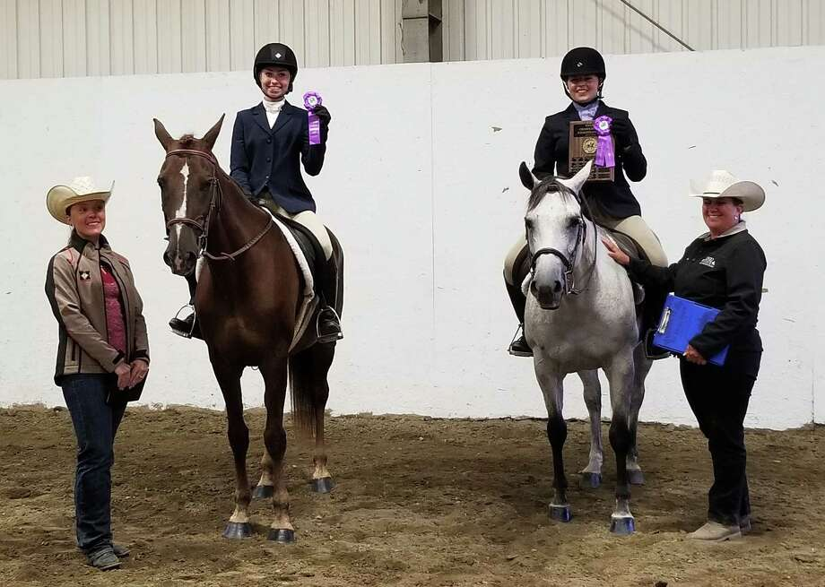 Reserve Champion English Rider Taylor Hansen, with Sterling Silver, and Champion English Rider Paige Spiess, with Wild Winchester, were among the award winners at the Schaghticoke Fair 4-H Horse Show. Other awards:  Novice Champion Kimberwicke Memorial: Nessa Corcoran and Peaches N Cream Novice Reserve Champion: Kendra Roberts and Peanut Butter Champion Showmanship Michael Gagliardi Memorial: Paige Spiess and Wild Winchester Reserve Champion Showmanship: Maeve Corcoran and Peaches N Cream Champion Western Rider William Rowe Memorial: Paige Spiess and Wild Winchester Reserve Champion Western Rider: Brigham Logue and Zinc?s Countless Dream Champion Trail Rider: Brigham Logue and Zinc?s Countless Dream Reserve Champion Trail Rider: Morgan Bechand and Tinkerbelle Photo: Picasa