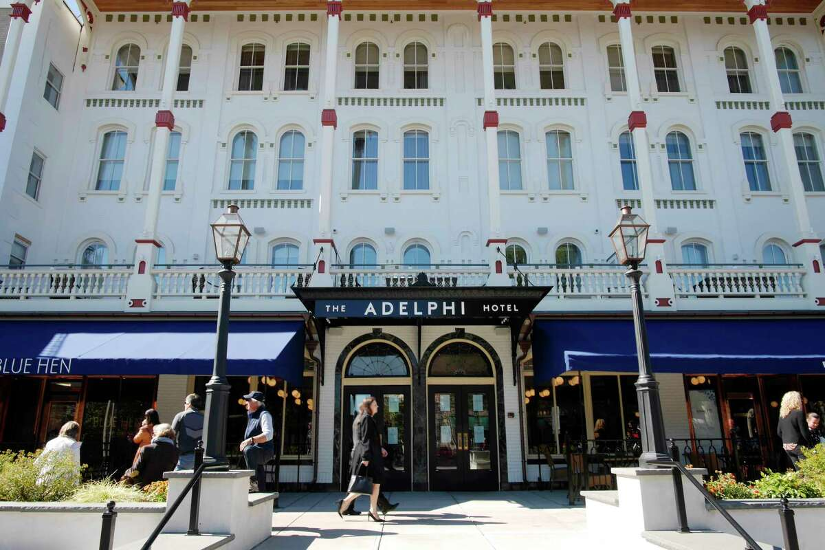 A view of the Adelphi Hotel on Sunday, Oct. 1, 2017 in Saratoga Springs, N.Y. The hotel opened back up for business on Sunday following a multi-year renovation project. (Paul Buckowski / Times Union)