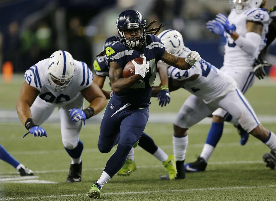 Seattle Seahawks running back J.D. McKissic runs for a touchdown against the Indianapolis Colts in the second half of an NFL football game, Sunday, Oct. 1, 2017, in Seattle. (AP Photo/Stephen Brashear) Photo: Stephen Brashear, Associated Press