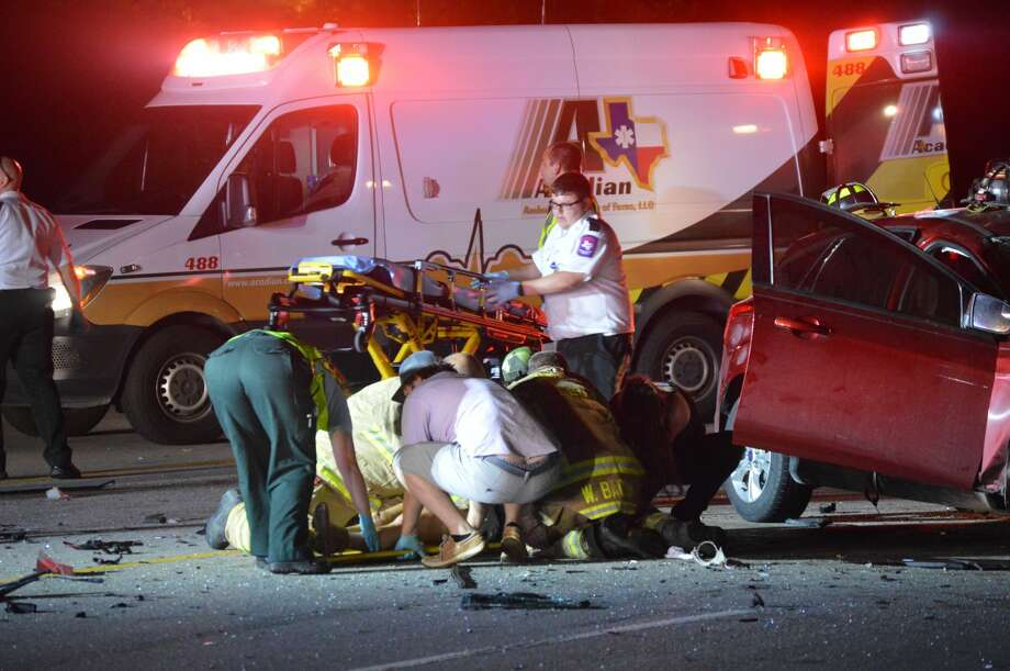 One died and several injured Friday, September 29, 2017 in a two-vehicle crash on Texas 62 in Orange County. Photo: Provided By Eric Williams