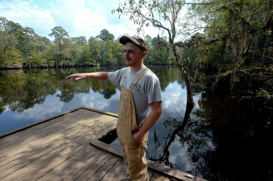 Brian Curtis talks Thursday about tropical storm repairs he is making to the lease where he hunts deer. Curtis estimates around $100,000 worth of repairs. Photo taken Thursday, September 28, 2017 Guiseppe Barranco/The Enterprise Photo: Guiseppe Barranco, Photo Editor / Guiseppe Barranco ©