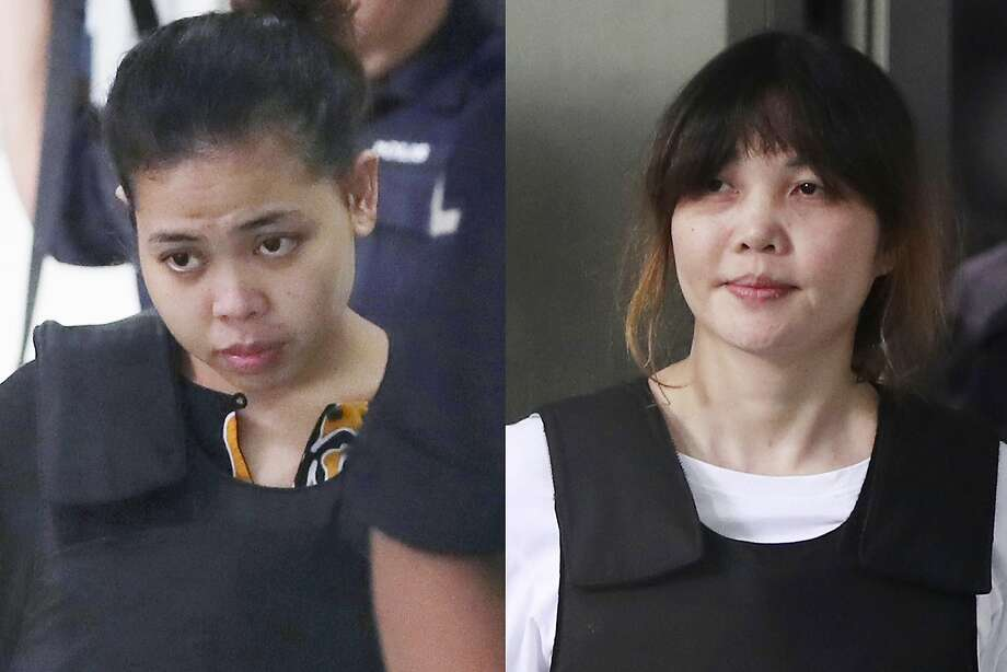 Indonesian Siti Aisyah (left) and Vietnamese Doan Thi Huong have pleaded not guilty in the case. Photo: Daniel Chan, Associated Press
