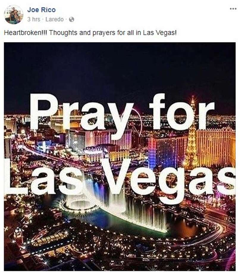 Laredoans expressed their condolences and offered prayers for the victims of the Las Vegas massacre on Facebook Monday morning. Photo: Facebook