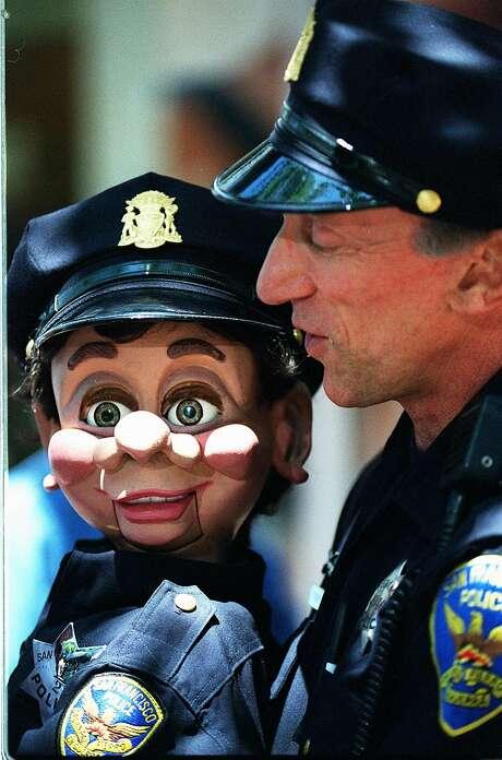 San Francisco Police Officer Bob Geary and Brendan O'Smarty. Photo: TIMOTHY BATT