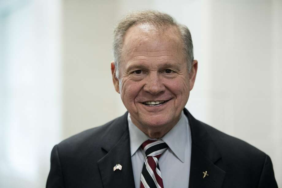 GOP candidate for U.S. Senate Roy Moore speaks during a forum in Valley, Ala., on August 3, 2017. The former Chief Justice of the Alabama Supreme Court prevailed in the special election to fill the seat vacated by Attorney General Jeff Sessions. The gun-toting, Bible-quoting, conservative firebrand will likely shake up the Senate whether he can wave his firearm around or not. (Bill Clark/Congressional Quarterly/Newscom/Zuma Press/TNS) Photo: Bill Clark, TNS