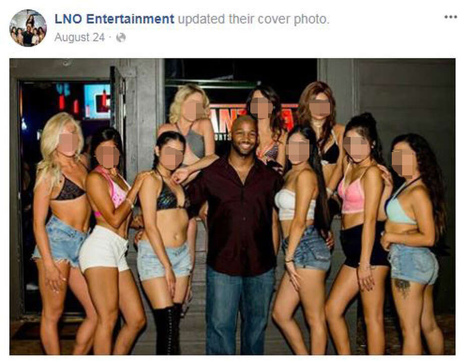 Gresham's social media profiles lists him as affiliated with LNO entertainment, an event hosting company. Photos on LNO Entertainment's Facebook profile, and Gresham's own Twitter profile show him posing with numerous young women. Photo: Facebook