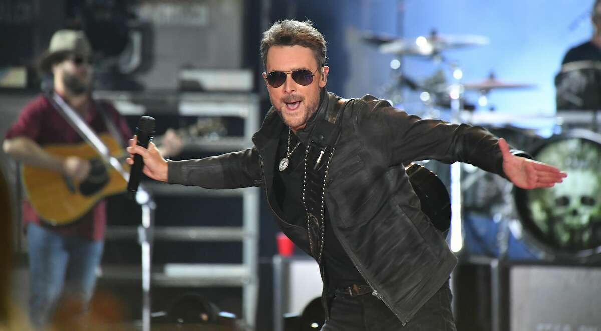Country singer Eric Church will perform the national anthem as a duet with R&B singer Jazmine Sullivan.