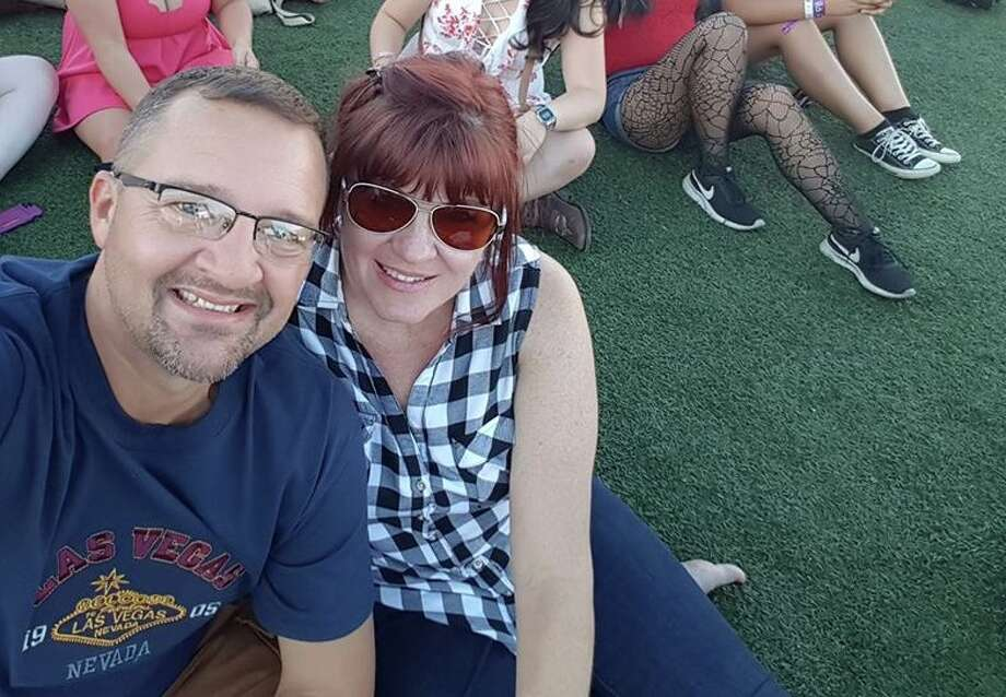 Mark and Sherrell Bethune survived a mass shooting in Las Vegas, where the Santa Fe natives were celebrating Mark's 50th birthday. This photo was taken hours before gunfire broke out. Photo: Mark Bethune