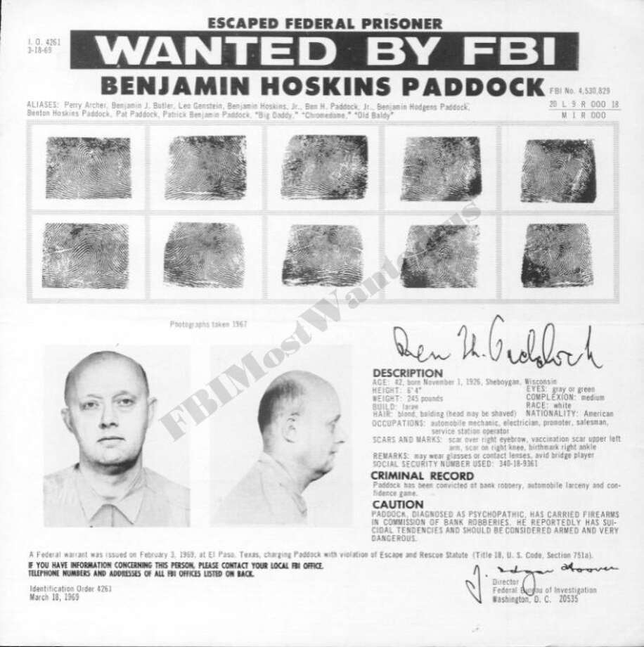 "Heartbreaking photosThe Las Vegas shooter's father had a troubled criminal past and landed on the FBI's ""Most Wanted"" list.See photos of the terrified, injured crowd in the Las Vegas shooting. Photo: FBI"