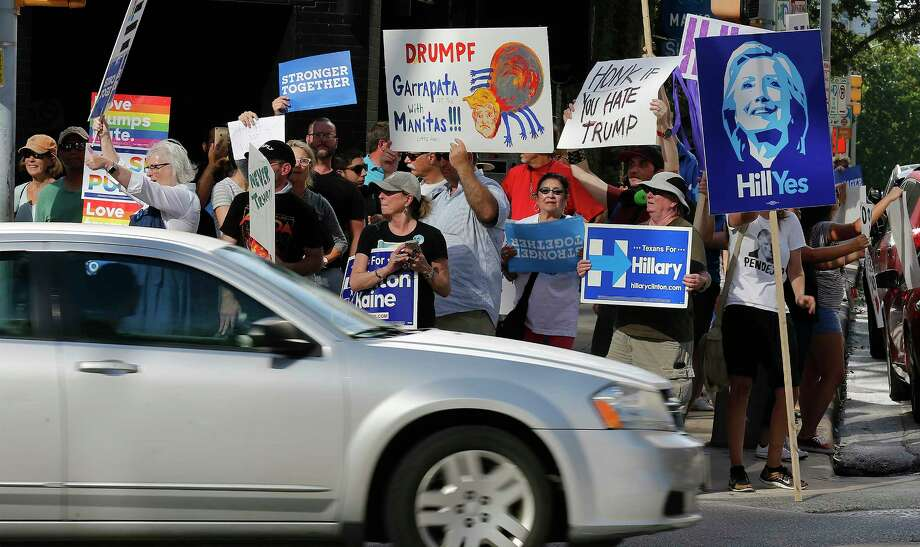 Activists hope Donald Trump's unpopularity will give the Texas Democratic Party a chance to break Republicans' hold on state government. Photo: Kin Man Hui, Staff / ©2016 San Antonio Express-News