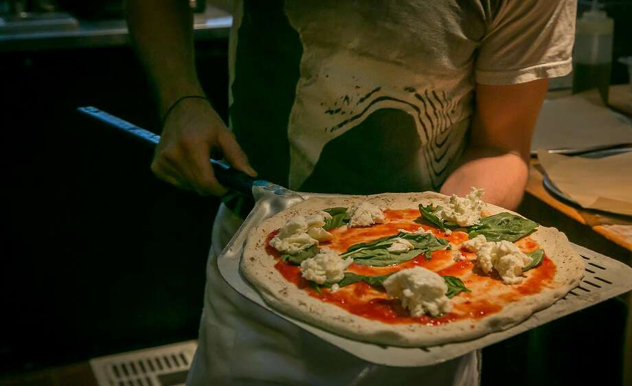 The Margherita pizza at PizzaHacker on Mission Street at 29th Street. Photo: John Storey, Special To The Chronicle