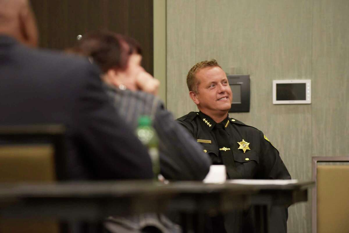 Albany County Sheriff Craig Apple takes part in a panel discussion on alternatives to incarceration at the New York State Recovery Conference on Monday, Oct. 2, 2017, in Albany, N.Y. (Paul Buckowski / Times Union)