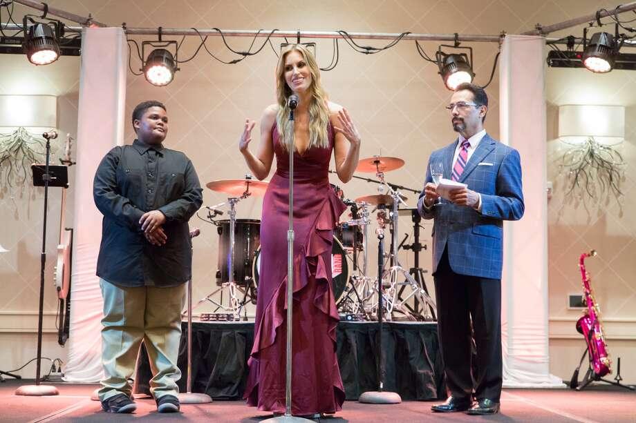 Blair Bentley onstage withEric Douglas and Sonny Garza Photo: Art Giraldo