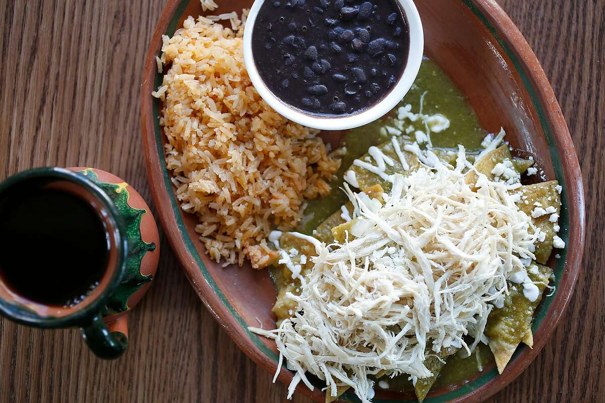 Chicken chilaquiles at El Buen Comer on Wednesday, September 27, 2017, in San Francisco, Calif.
