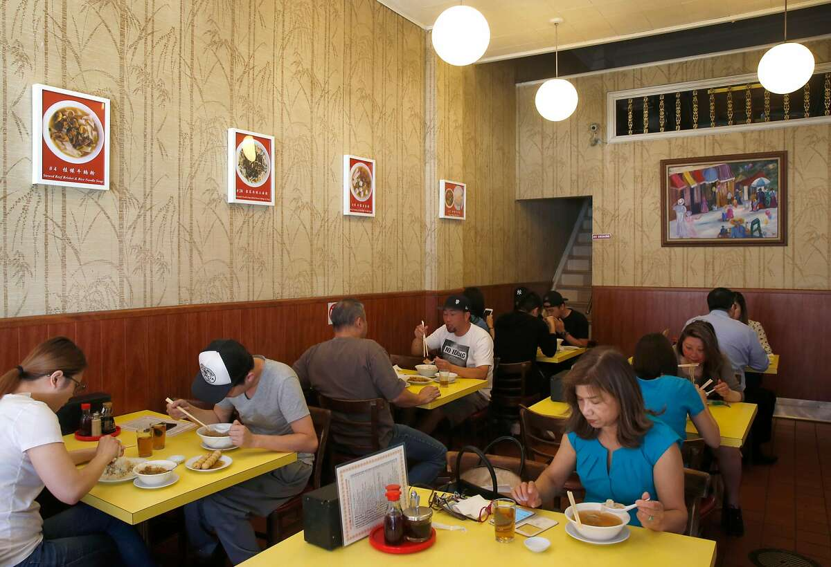 Diners have lunch at Hon's Wun-Tun House on Kearny Street in San Francisco, Calif. on Wednesday, Sept. 27, 2017.