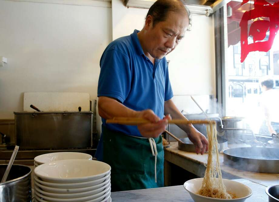 Noodles at Hon's Wun-Tun House on Kearny Street are one of the best deals in San Francisco. Photo: Paul Chinn, The Chronicle