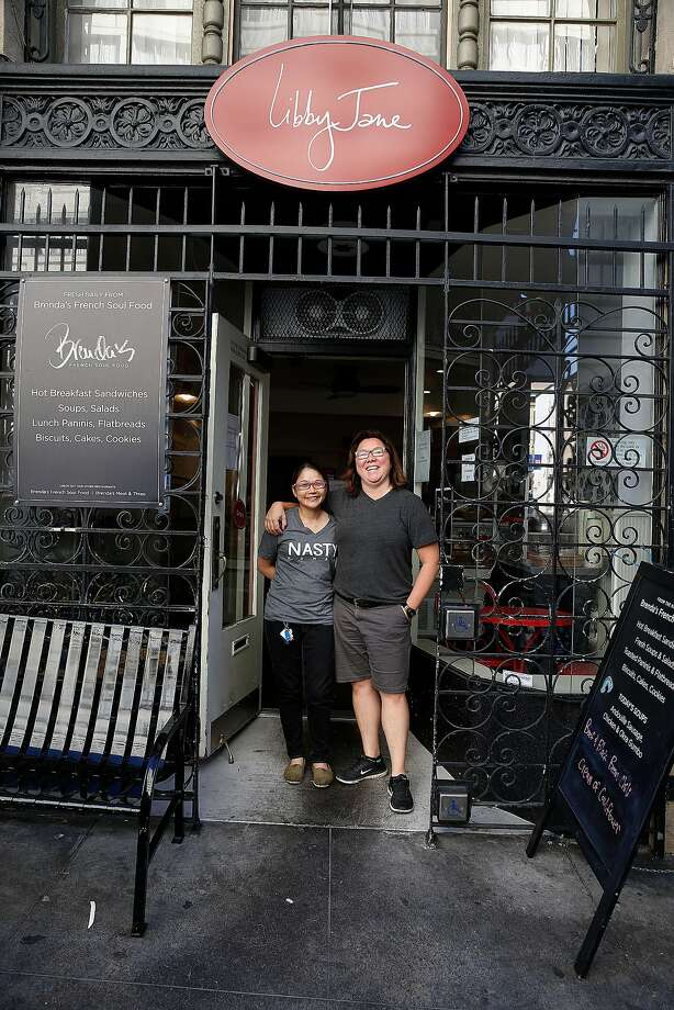 Owner Brenda Buenviaje and Lina Ng in front of Libby Jane in the Tenderloin. Photo: Liz Hafalia, The Chronicle