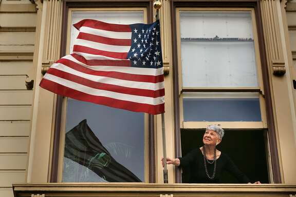 President Donald Trump supporter, Vicky Berol at her home, in San Francisco, Ca., on Fri. Sept. 29, 2017.